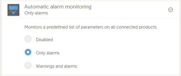 Automatic alarm monitoring