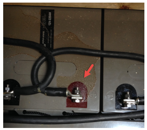 Figure 9. Detail installing batteries