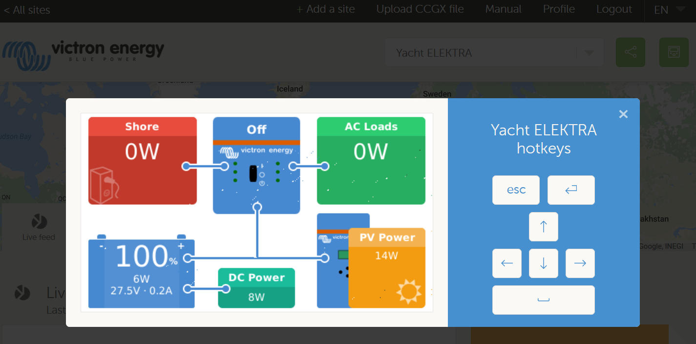 Multiplus Magic Small Generator Big Power Victron Energy Wiring Diagram Besides Onan 6 5 Genset Rv Heres An Alternative Overview Screen Shown Below Which Gives Similar Information To That Above Plus Access Current Limit Settings And Other