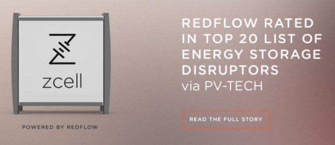 Energy storage disruption with Redflow & Victron Energy