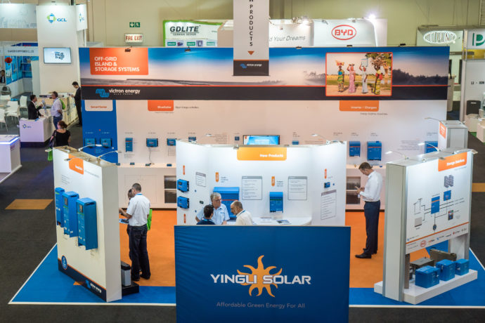 Exhibition Stand Training : Africa distributor meeting solar show training and
