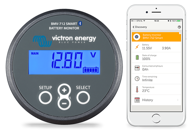 Battery Monitoring App User Interface : Bmv smart battery monitor with bluetooth built in