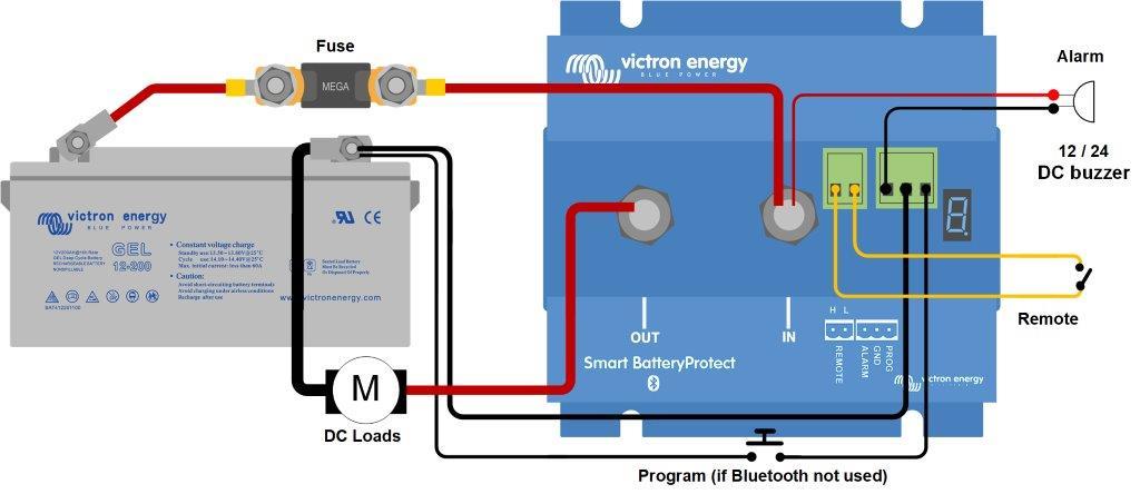 1 Bater/ía 65 A, 100 A, 220 A, 12 V, 24 V, 48 V Smart BatteryProtect 65A 12V 24V Victron Energy Smart Battery Proctect