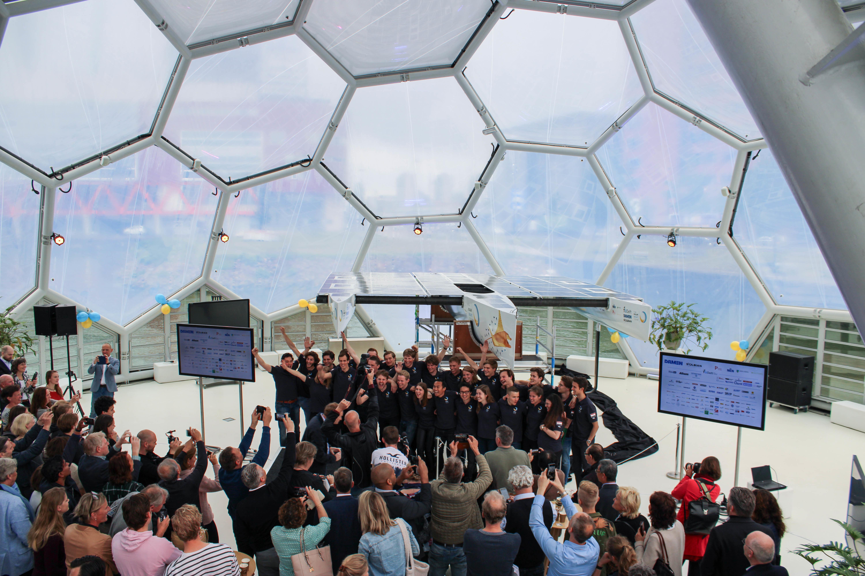 TU Delft Solar Boat 'baptised' by Laura Dekker