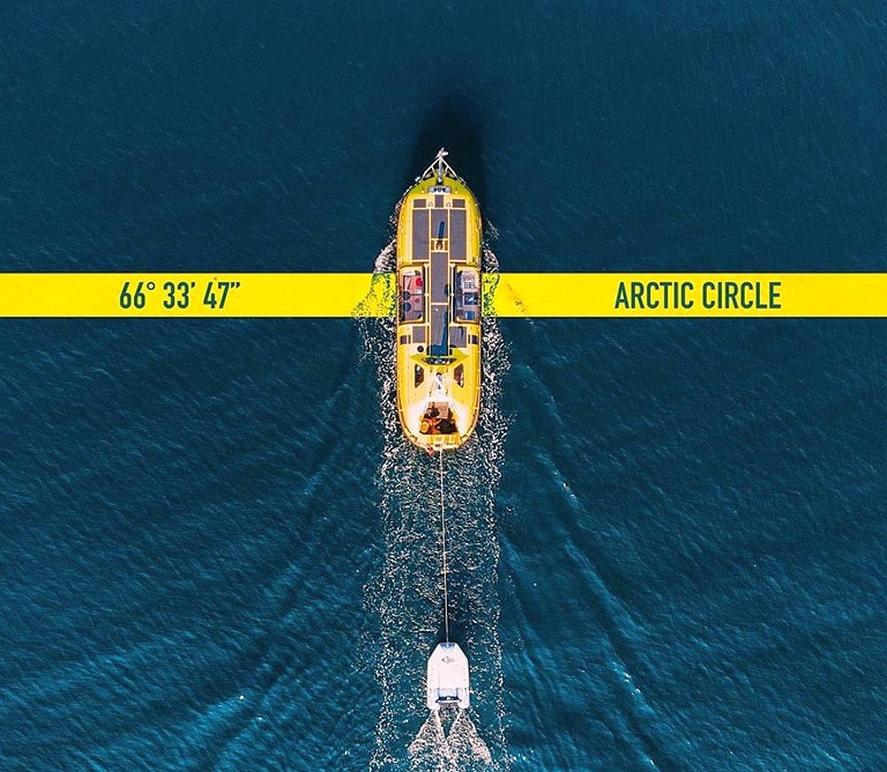 Shackleton reaches Arctic Circle
