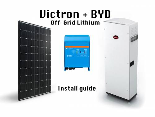 Offgrid Lithium Byd On Victron Install Guide Victron