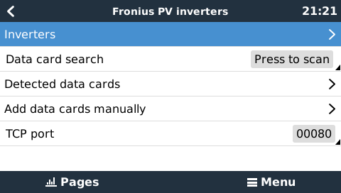 CCGX & Fronius PV Inverters [Victron Energy]