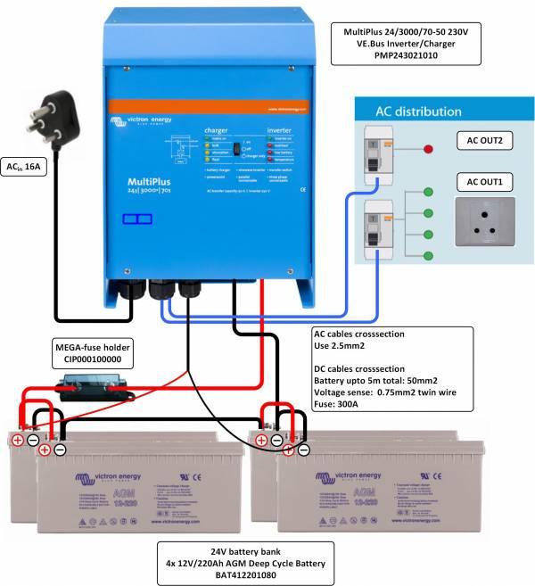 diagram for wiring a 230v 15a circuit breaker wiring a 230v multiplus backup only 3000va 24 volt #2