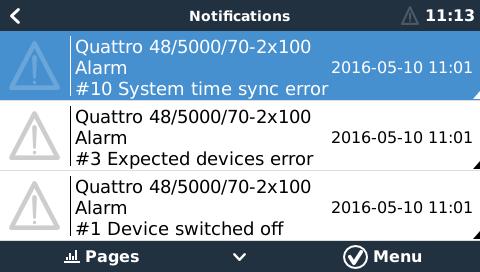VE Bus Error Codes [Victron Energy]
