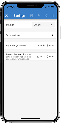 Orion Smart Charger Settings