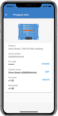Orion Smart Product Info