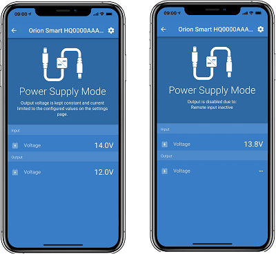 Orion Smart Power Supply Mode