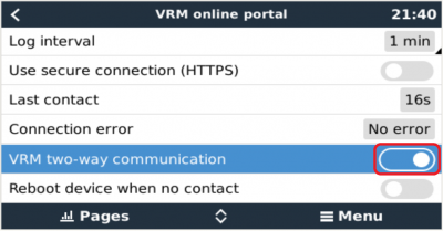 VictronConnect-Remote - GX Product Settings
