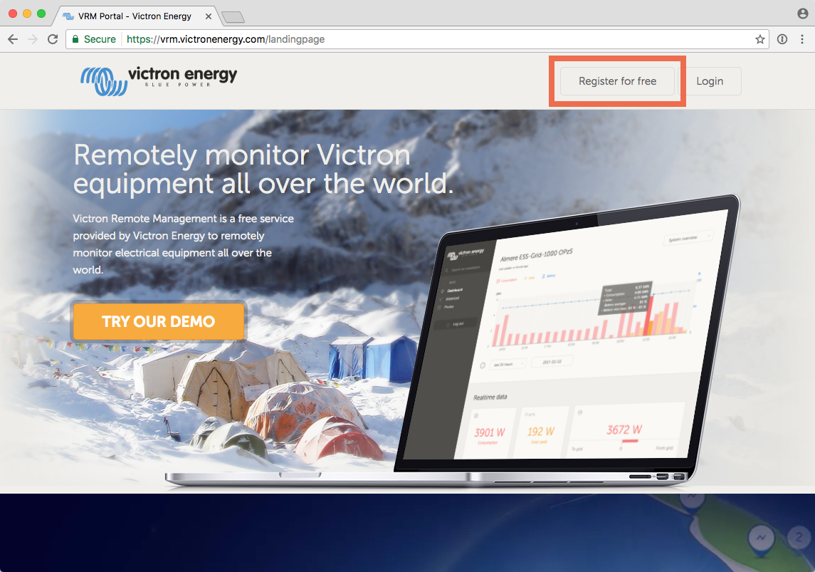 Getting started with VRM [Victron Energy]