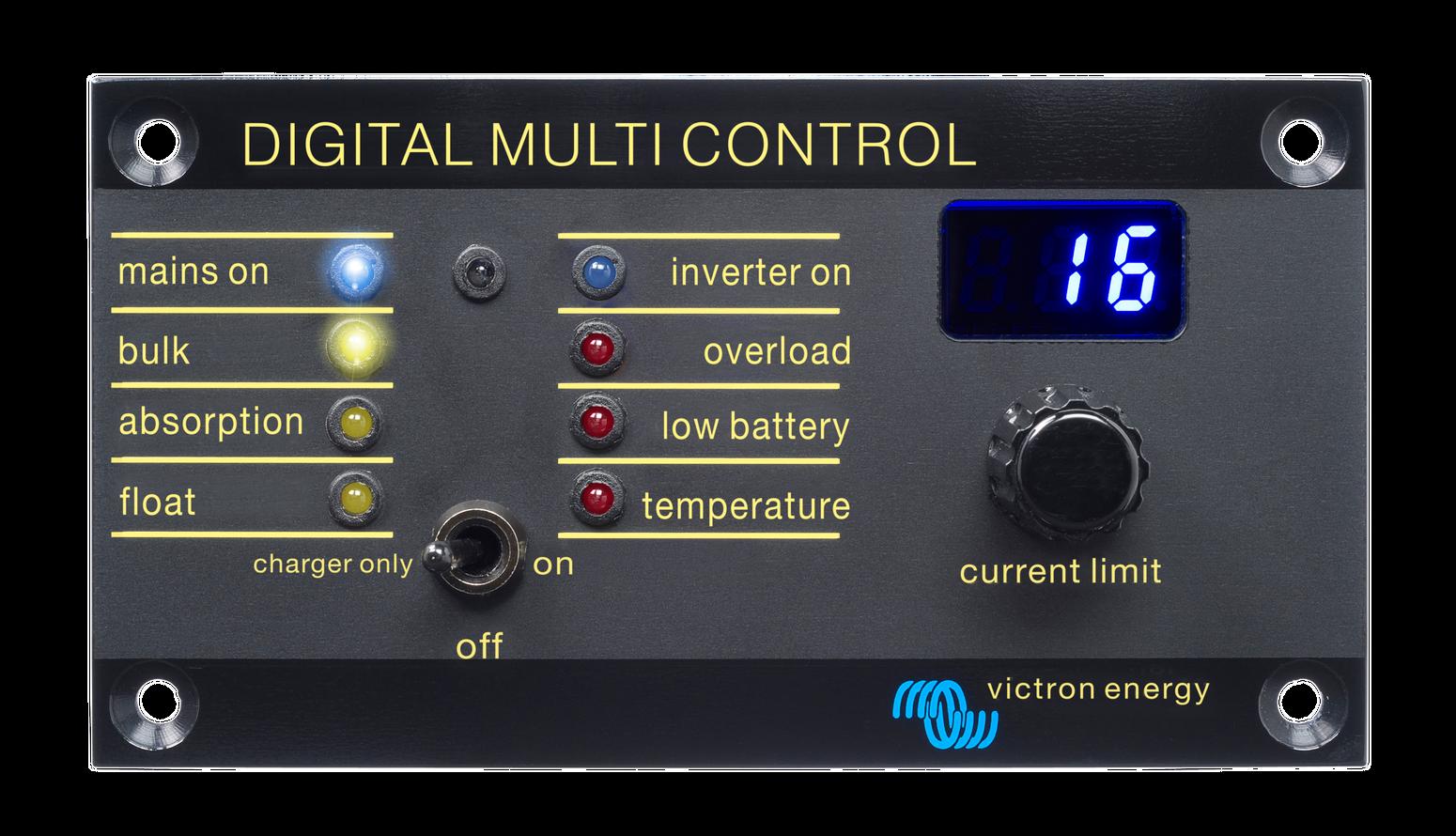 Bedienpanel Victron Digital Multi Control 200//200A GX 90º RJ45