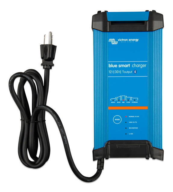Bluetooth Victron Energy Blue Smart IP22 12-Volt 15 amp 120V Single Output Battery Charger NEMA 5-15