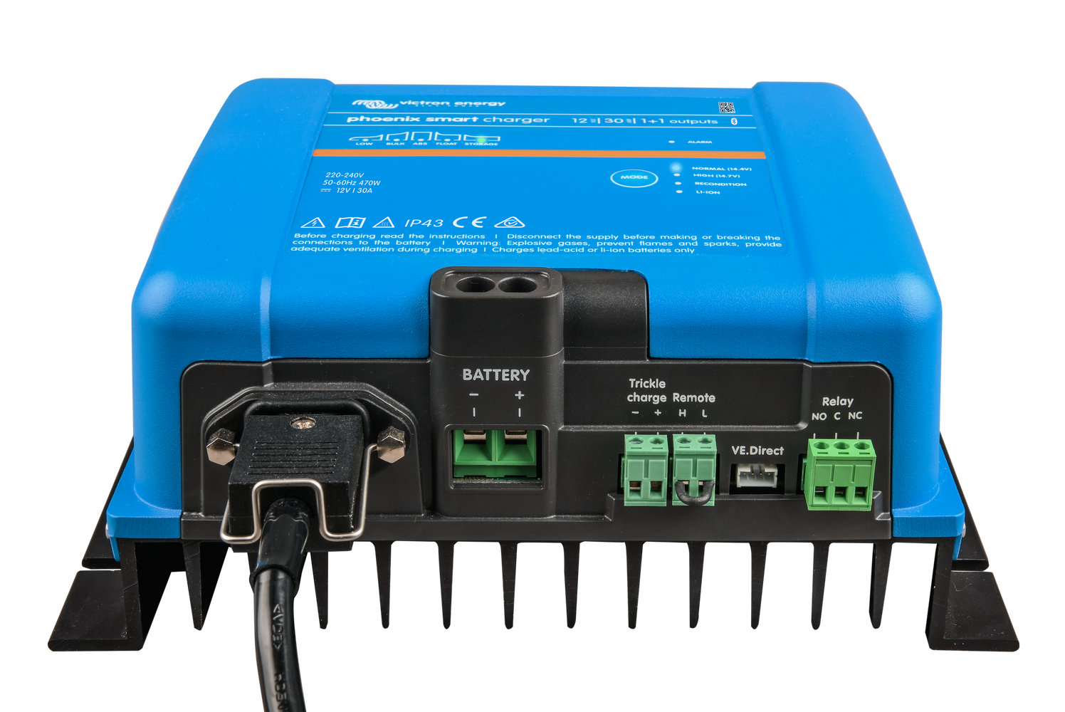IP43 230 V 1+1 Victron Phoenix Smart Charger 12//30