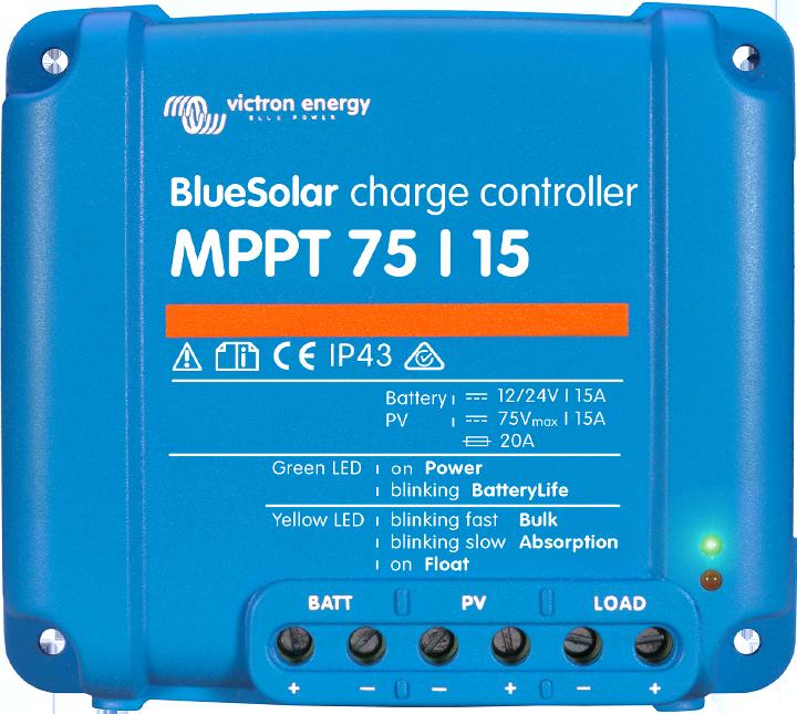 BlueSolar MPPT 75/10, 75/15 & 100/15 (12 / 24 Volt + load output